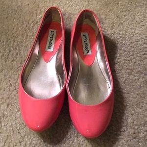 Steve Madden Coral/Pink Patent Heaven Ballet Flat